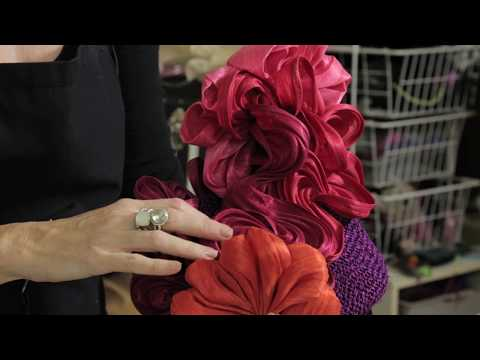 Hat Classes - Silk Abaca Texture And Blossom