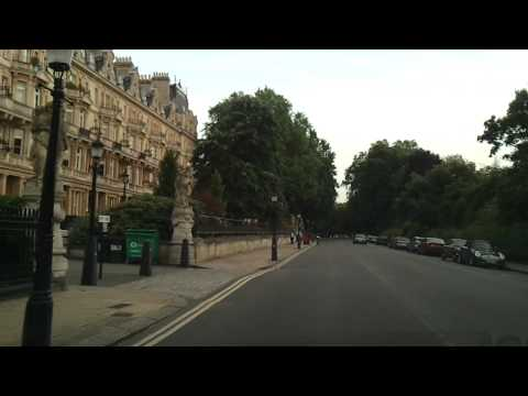 Driving in London - Regent's Park to Regent Street