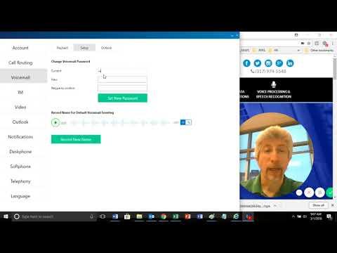 Mitel Connect Client - Set New Voicemail Password & Default Greeting