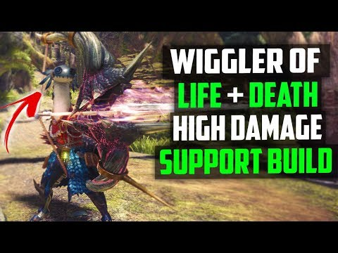 💎 CRAZY HIGH DAMAGE + SUPPORT   BEST Bow Build Monster Hunter world