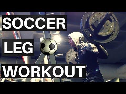 Soccer Player Strength + Endurance Leg Training | Gym Workout