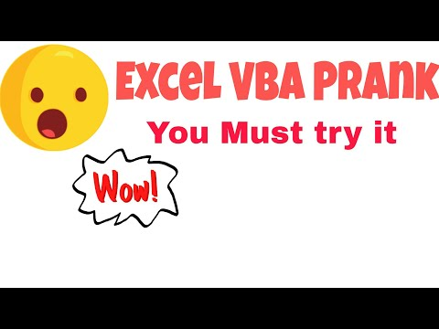 Excel prank #1 : Excel data sheet Disappear when User click on sheet | Excel vba