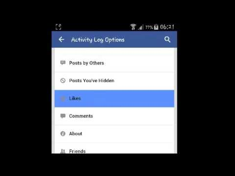 Explore Your Facebook Activity Log On Facebook On Android