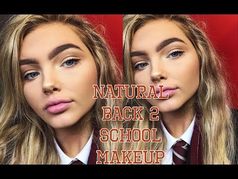 BACK TO SCHOOL MAKEUP TUTORIAL (NATURAL) | Sophia Mitchell