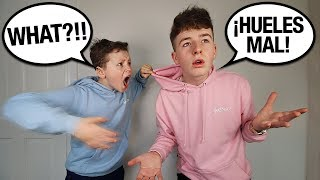 Download SPEAKING ONLY SPANISH TO LITTLE BROTHER FOR 24 HOURS! (he went crazy...) Video