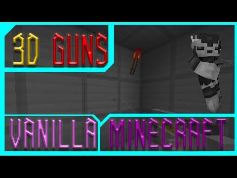 3D GUNS IN VANILLA MINECRAFT! WTF! [GunColony]