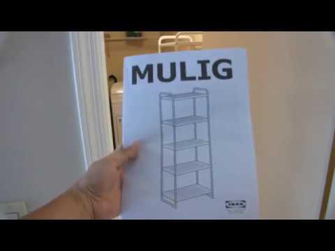 Assembling IKEA MULIG Shelf Unit