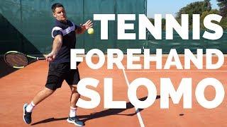 Tennis Forehand Slow Motion - Simon - Top Tennis Training
