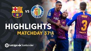 Highlights FC Barcelona vs Getafe CF (2-0)
