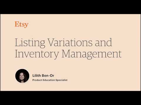 How to: Listing Variations and Inventory Management on Etsy