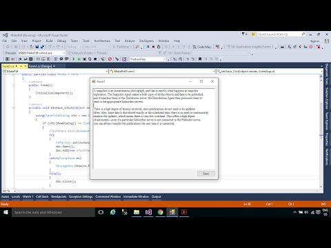 C# Tutorial - How to Create a PDF document file | FoxLearn