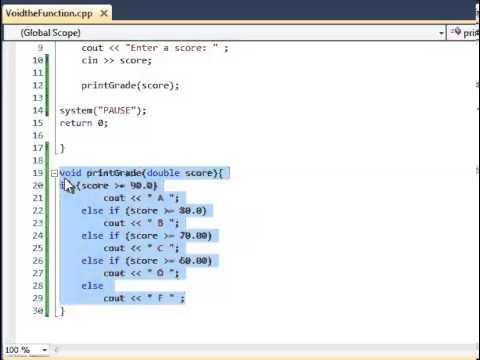 C++ Tutorial- Void Functions