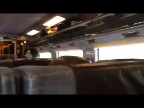 Onboard Eurostar train London to Brussels. How looks standard class inside?