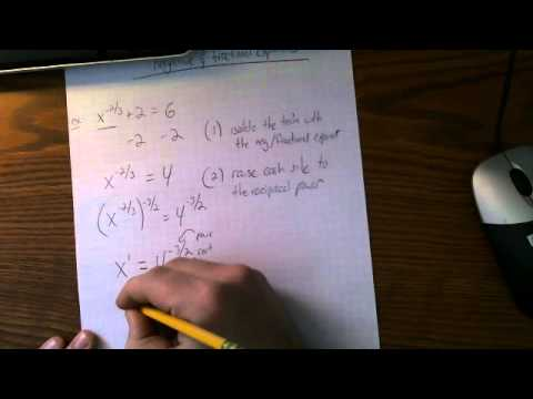 Solving equations with negative & fractional exponents
