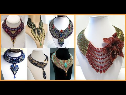 most stylish beads jewelry necklace design ideas
