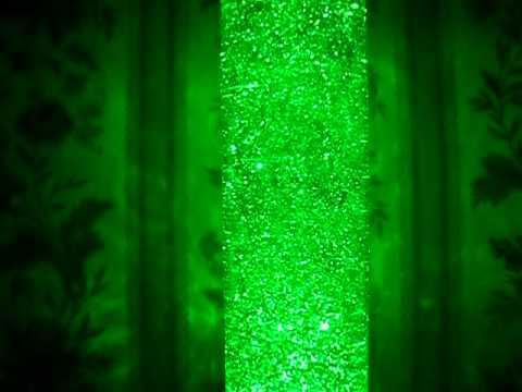 Hacked LED glitter lamp.
