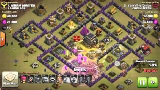 3 Star WAR TH8 vs TH9 GoWiPe attack !!! - getplaypk