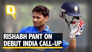 The Quint: Wicketkeeper-Batsman Rishabh Pant Comments on Debut India Call-up