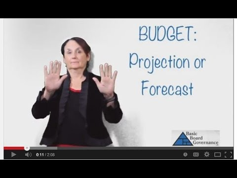 Budget: Projection or Forecast?