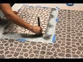 How to Stencil a Custom DIY Area Rug with Fabric Stencils Chalk Paint