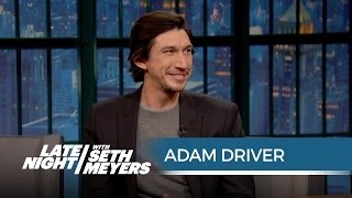 Adam Driver on Playing Kylo Ren and Keeping Star Wars Secrets - Late Night with Seth Meyers