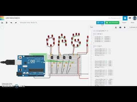 Arduino Laboratorio 2 Simulación Secuencia de Leds