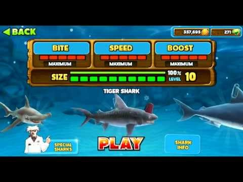 Hungry Shark Evolution All sharks information including Secret/Special Sharks