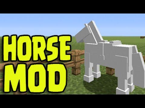 Minecraft PS3, PS4, Xbox, Wii U - HORSE MOD! Untextured Horses!