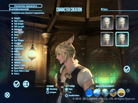 PC - Final Fantasy XIV: A Realm Reborn character creation benchmark