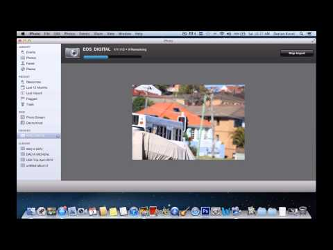 How to import photos into iPhoto