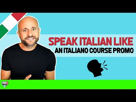Learn How to Speak Italian like an Italiano, Online - INSIDE LOOK AT A COURSE, PROMO