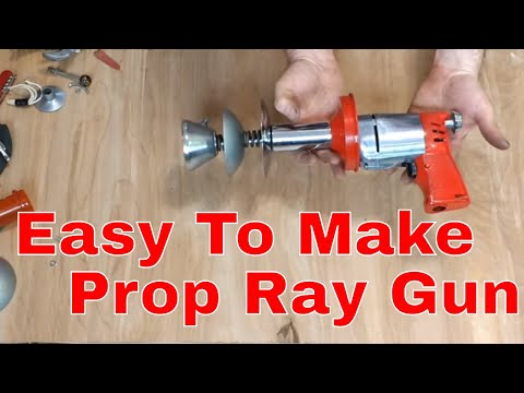 Easy, Cheap, Ray Gun Prop Built from Found Objects
