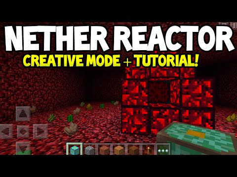 Minecraft Pocket Edition - 0.11.0 Update! - How to Go In Nether Reactor In Creative Mode! - TUTORIAL