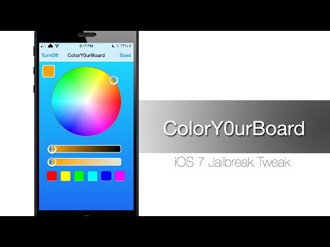 ColorY0urBoard: Cydia Tweak that changes your keyboard color - iPhone Hacks