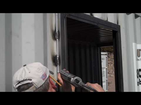 How To Install A Door In A Metal Shipping Container