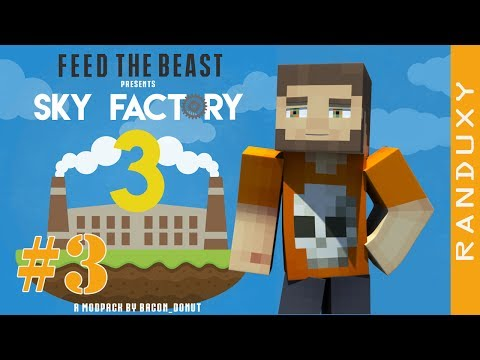 SkyFactory 3: Minecraft - Ep.03 - MAKING BARRELS, SIEVE, AND MY FIRST COBBLESTONE!