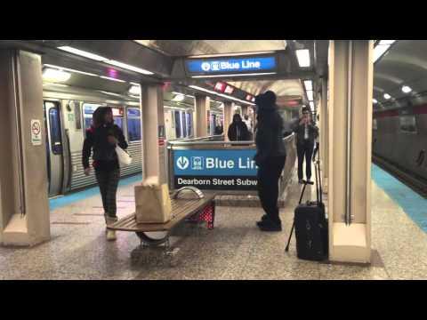 Barbie girl song dance at CTA Jackson Station Chicago
