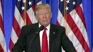 Watch President-elect Donald Trump Press Conference in NYC. Jan 11. 2017. CNN, Russia, Putin.