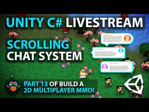 C# with Unity Live Programming #20 - Multiplayer 2D Top Down Adventure MMORPG Part 12