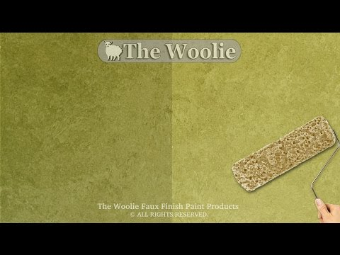 Sponge Roller Faux Finish Painting by The Woolie (How To Paint Walls) #FauxPainting
