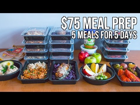 $75 Epic Meal Prep 2016 - 5 meals for 5 days