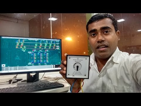 How to Check Phase sequence of 3 phase Power supply using Phase sequence meter{In English}