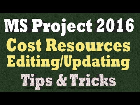 Cost Resources in Ms Project - Editing and Updating Actual Costs Manually - Tips & Tricks 2018