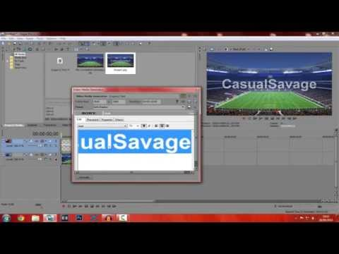 How To: Transparent Text In Sony Vegas Pro 11, 12 & 13