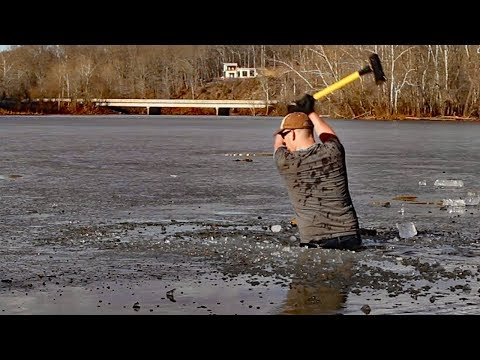 Extreme Winter Fishing - I have an axe and cabin fever!!!!!!!!!!!!!!