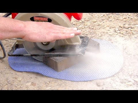 How to cut bricks with a Circular Saw / Skil Saw Dry Cut Pavers