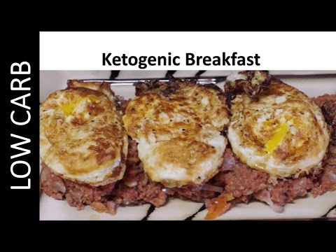 Ketogenic Breakfast - Corned Beef and Fried Eggs