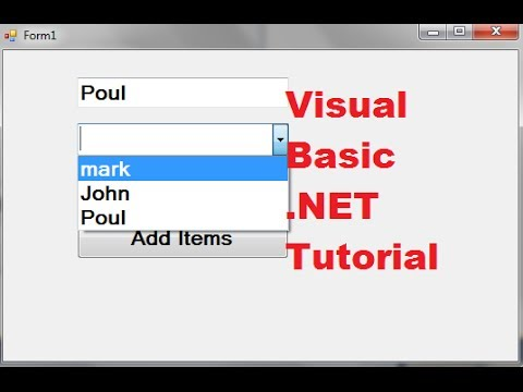 Visual Basic .NET Tutorial 43 - How to use a combobox Visual Basic .NET