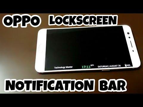 Oppo Lockscreen Notification Bar