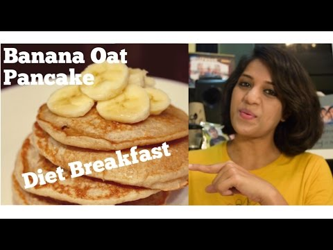 How to lose weight fast| healthy breakfast| banana oats pancakes